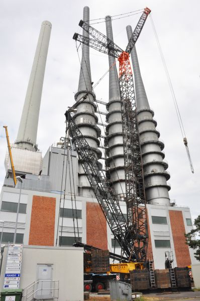 550-Tonnenkran im ICO-Einsatz - Mainsite GmbH & Co.KG